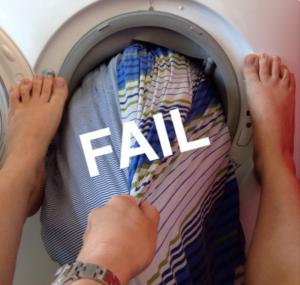 copripiumino in lavatrice